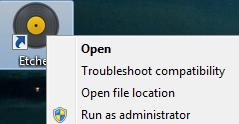 Windows 'Run as Administrator'